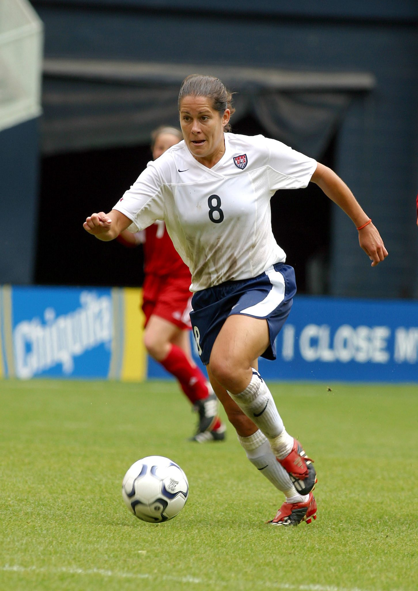 Shannon MacMillan, USWNT vs Canada April 26, 2003.